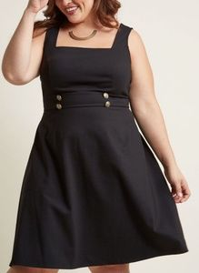 Modcloth Square-neck sleeveless A-line dress